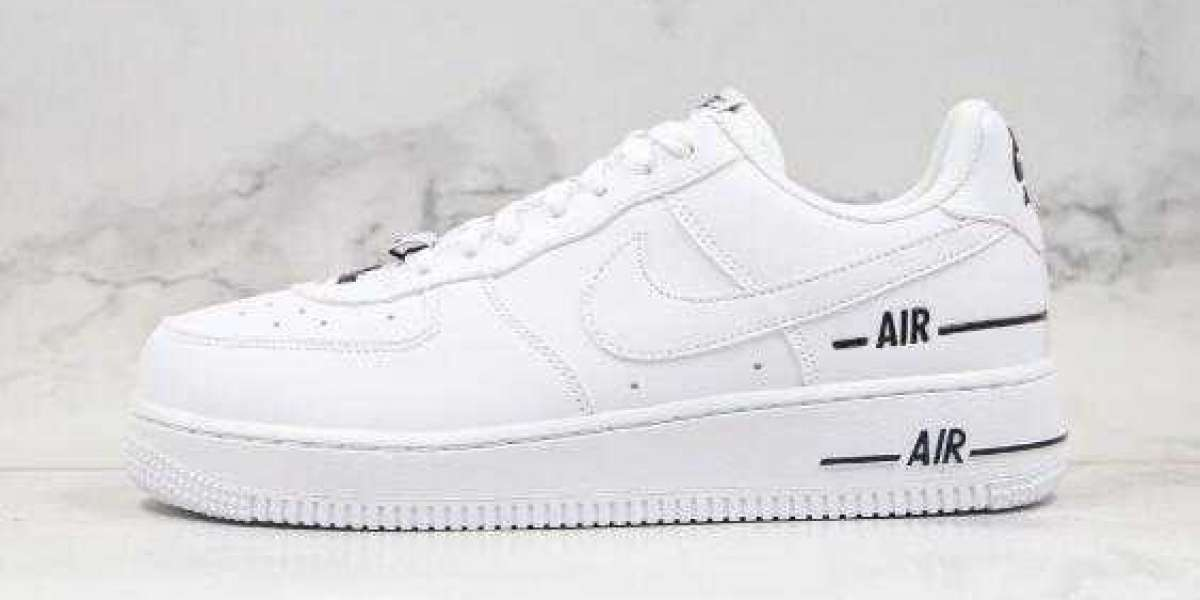 2020 Nike Air Force 1 Low Double Air black white